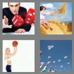 4 pics 1 word 5 letters throw