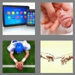 4 pics 1 word 5 letters touch