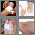 4 pics 1 word 5 letters wound
