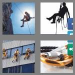 4 pics 1 word 6 letters abseil