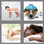 4 pics 1 word 6 letters asleep