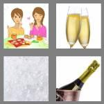 4 pics 1 word 6 letters bubbly