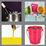 4 pics 1 word 6 letters bucket