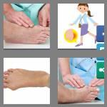 4 pics 1 word 6 letters bunion