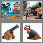 4 pics 1 word 6 letters cannon