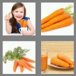 4 pics 1 word 6 letters carrot
