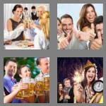 4 pics 1 word 6 letters cheers