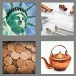 4 pics 1 word 6 letters copper