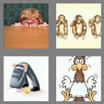 4 pics 1 word 6 letters coward