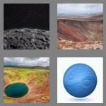 4 pics 1 word 6 letters crater