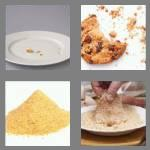 4 pics 1 word 6 letters crumbs