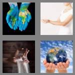 4 pics 1 word 6 letters cupped