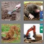 4 pics 1 word 6 letters digger