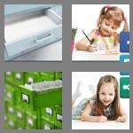 4 pics 1 word 6 letters drawer
