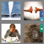 4 pics 1 word 6 letters frayed