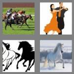 4 pics 1 word 6 letters gallop