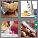 4 pics 1 word 6 letters grater