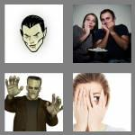 4 pics 1 word 6 letters horror