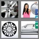 4 pics 1 word 6 letters hubcap