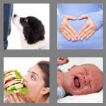4 pics 1 word 6 letters hunger