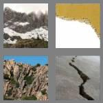 4 pics 1 word 6 letters jagged