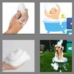 4 pics 1 word 6 letters lather