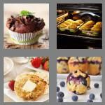 4 pics 1 word 6 letters muffin
