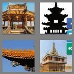 4 pics 1 word 6 letters pagoda