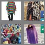 4 pics 1 word 6 letters poncho