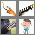 4 pics 1 word 6 letters quiver