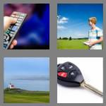 4 pics 1 word 6 letters remote