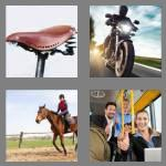 4 pics 1 word 6 letters riding