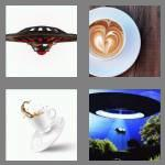 4 pics 1 word 6 letters saucer