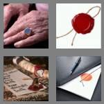 4 pics 1 word 6 letters signet