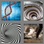 4 pics 1 word 6 letters spiral