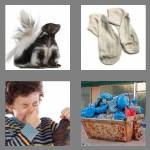 4 pics 1 word 6 letters stinky