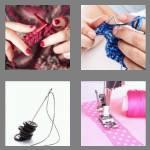 4 pics 1 word 6 letters stitch