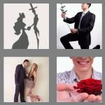 4 pics 1 word 6 letters suitor