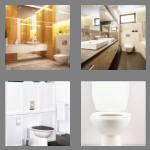 4 pics 1 word 6 letters toilet