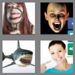4 pics 1 word 6 letters toothy