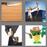 4 pics 1 word 6 letters weapon