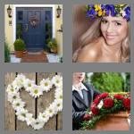 4 pics 1 word 6 letters wreath