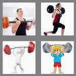 4 pics 1 word 7 letters barbell
