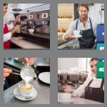 4 pics 1 word 7 letters barista