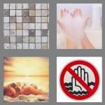 4 pics 1 word 7 letters bathing