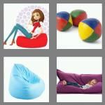4 pics 1 word 7 letters beanbag