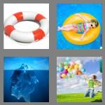 4 pics 1 word 7 letters buoyant