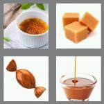 4 pics 1 word 7 letters caramel