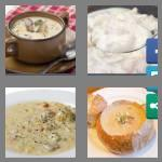 4 pics 1 word 7 letters chowder