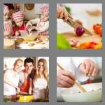 4 pics 1 word 7 letters cookery